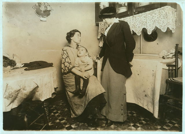 Isidor Rothandler, 80 Ridge Street, New York. Idiopathic Idiocy. Mother worked hard before marriage, and was ailing while Isidor was coming. Further data in their files; #1695 Nurse Investigator Records, Department of Public Charities.  New York], New York (State) / Photo by Lewis W. Hine., September 16, 1913, in co-operation with the Clearing House for Mental Defectives, 303 East 20 Street, New York.