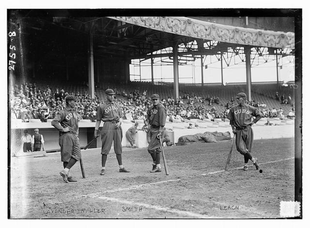 [Jimmy Lavender, Ward Miller, Charlie Smith, Tommy Leach, Chicago NL, at Polo Grounds, NY (baseball)]