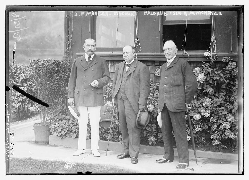 J.P. Morgan, Viscount Haldane and Sir K.M. McKenzie