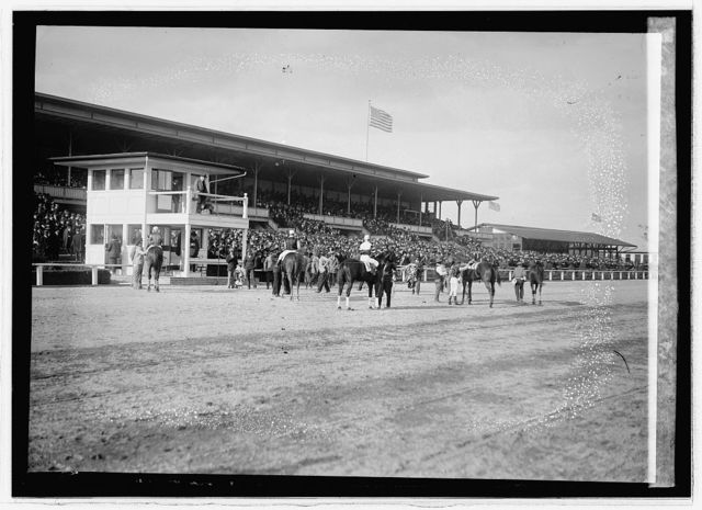 Laurel race track, 1913