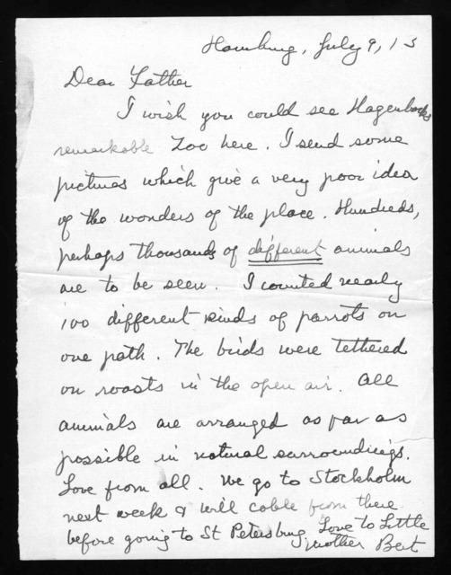 Letter from Gilbert Hovey Grosvenor to Alexander Graham Bell, July 9, 1913