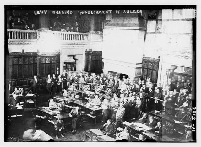 Levy reading impeachment of Sulzer