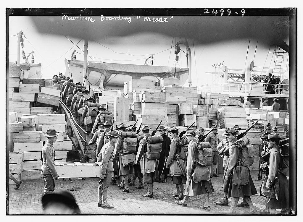 Marines boarding MEADE