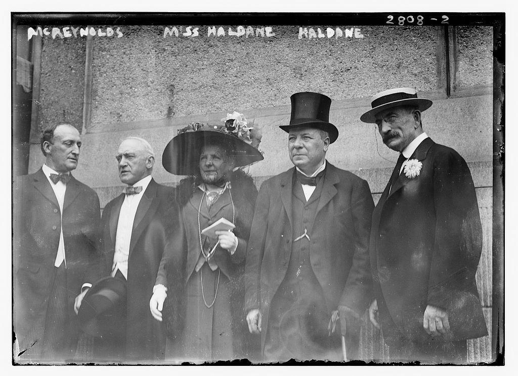 McReynolds, Miss Haldane, Haldane