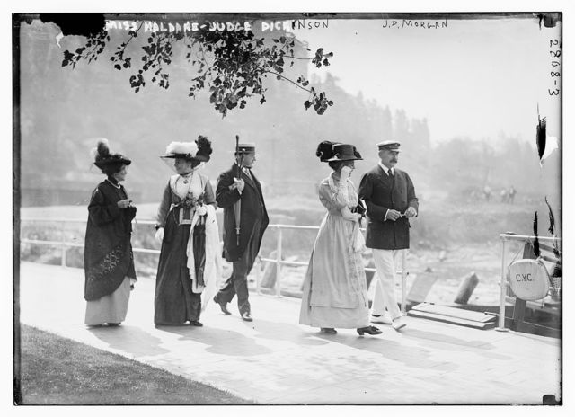 Miss Haldane, Judge Dickinson, J.P. Morgan