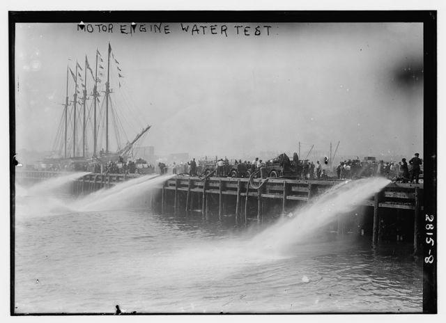 Motor engine water test