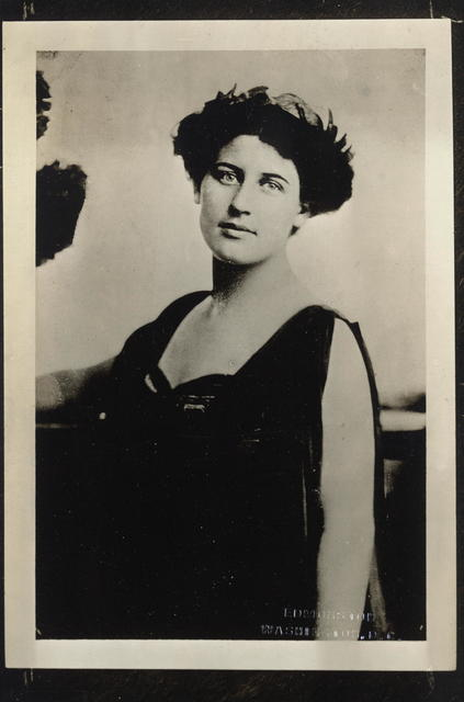 Mrs. Inez Milholland Boissevain, of New York.  Member of National Advisory Council of Congressional Union for Woman Suffrage.  Graduate of Vassar College and of the New York Law University.