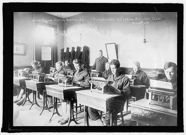 Naval training station, Newport, R.I., Yeoman School, Executive Officers' Class, Dec. 23rd, 1913