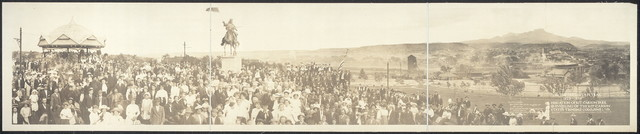 """""""On the Old Santa Fe Trail, 1822-1879""""; dedication of Kit Carson Park & unveiling of the Kit Carson Statue, Trinidad, Colo., June 1, '13"""