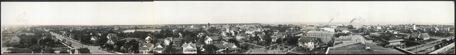 Panoramic view of St. Petersburg, Fla. from the La Plaza Theatre