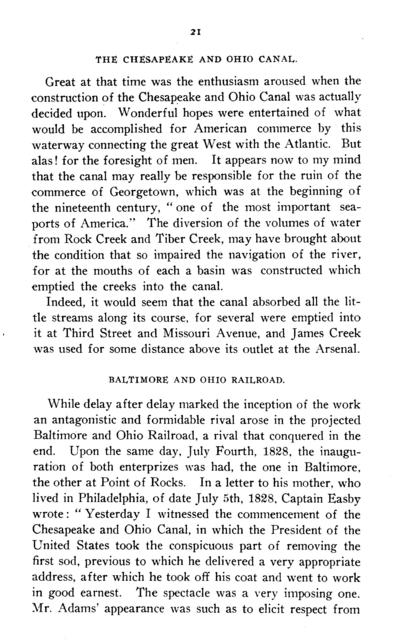 Personal recollections of early Washington and a sketch of the life of Captain William Easby. A paper read before the Association of the oldest inhabitants of the District of Columbia, June 4, 1913