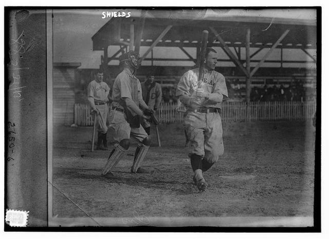 [Pete Shields, catcher in spring training with Cleveland AL (baseball)]