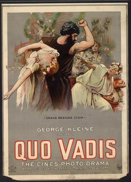 Quo Vadis Ursus rescues Lygia.