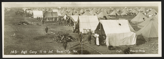 Reg't camp 11th Inf., Texas City, Tex.