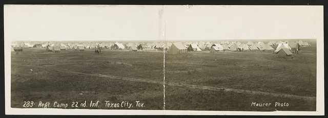 Reg't camp 22nd Inf., Texas City, Tex.
