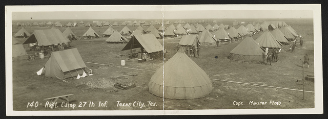 Reg't camp 27th Inf., Texas City, Tex.