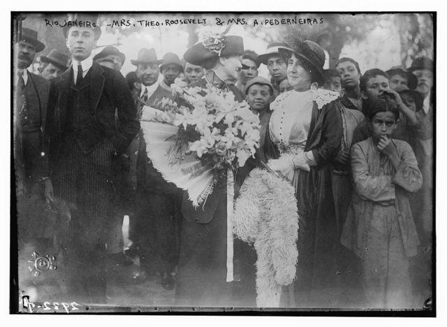 Rio Janeiro - Mrs. Theo. Roosevelt & Mrs. A. Pederneiras