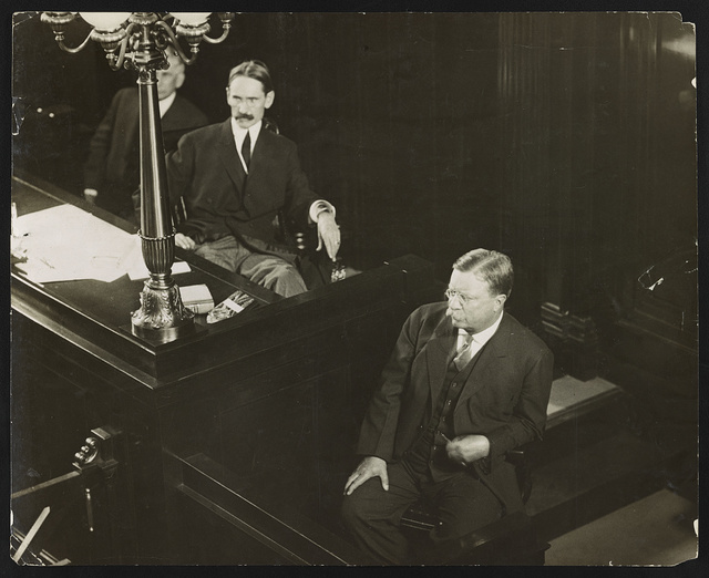 Roosevelt facing his jury first actual photographs of Col. Roosevelt in court / / photograph by Underwood & Underwood.