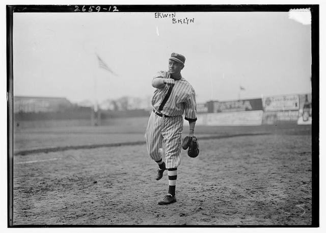 "[Ross ""Tex"" Erwin, Brooklyn NL, at Ebbets Field (baseball)]"