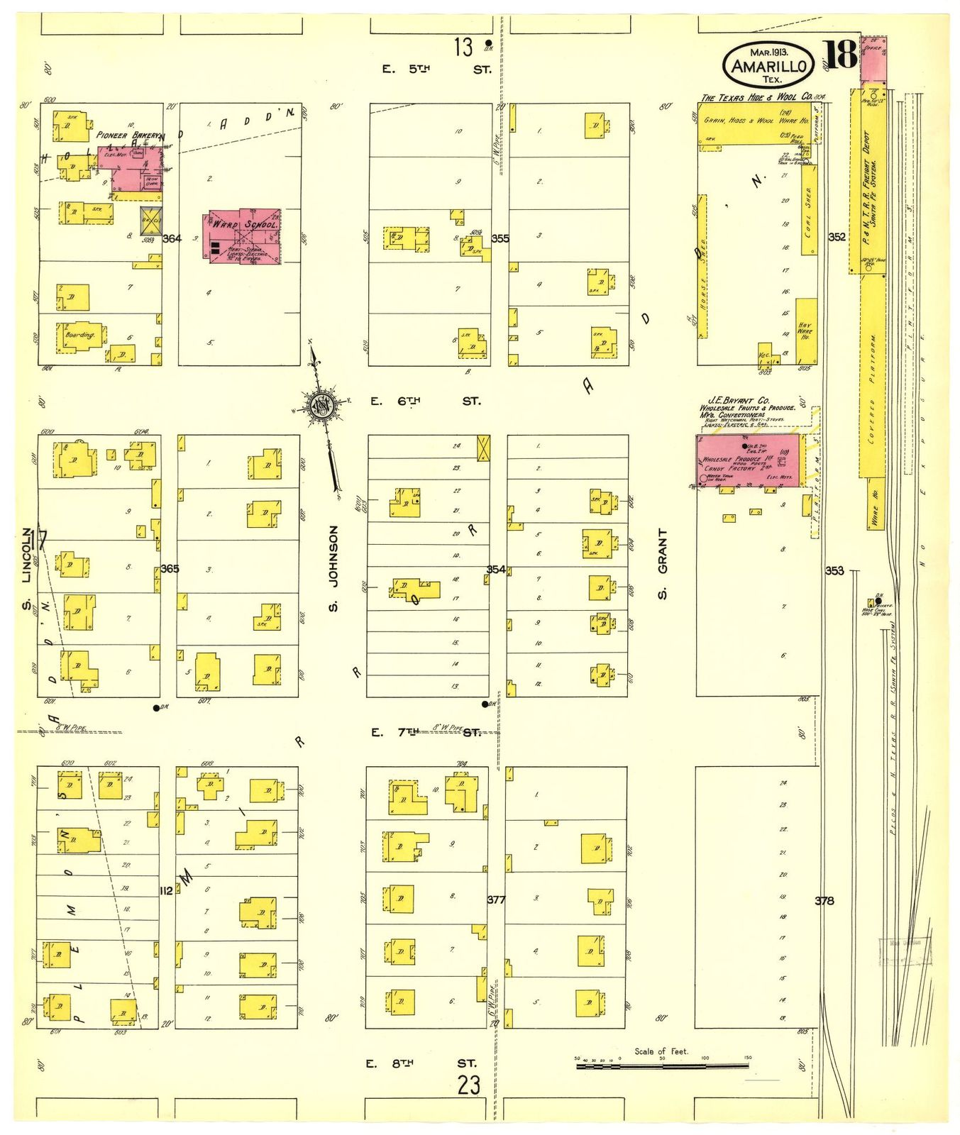 Map Of Texas Amarillo.Sanborn Fire Insurance Map From Amarillo Potter County Texas Picryl