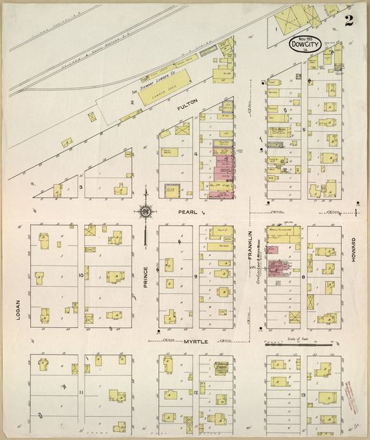 Sanborn Fire Insurance Map from Dow City, Crawford County, Iowa.