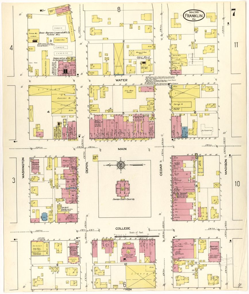 Sanborn Fire Insurance Map from Franklin, Simpson County ...