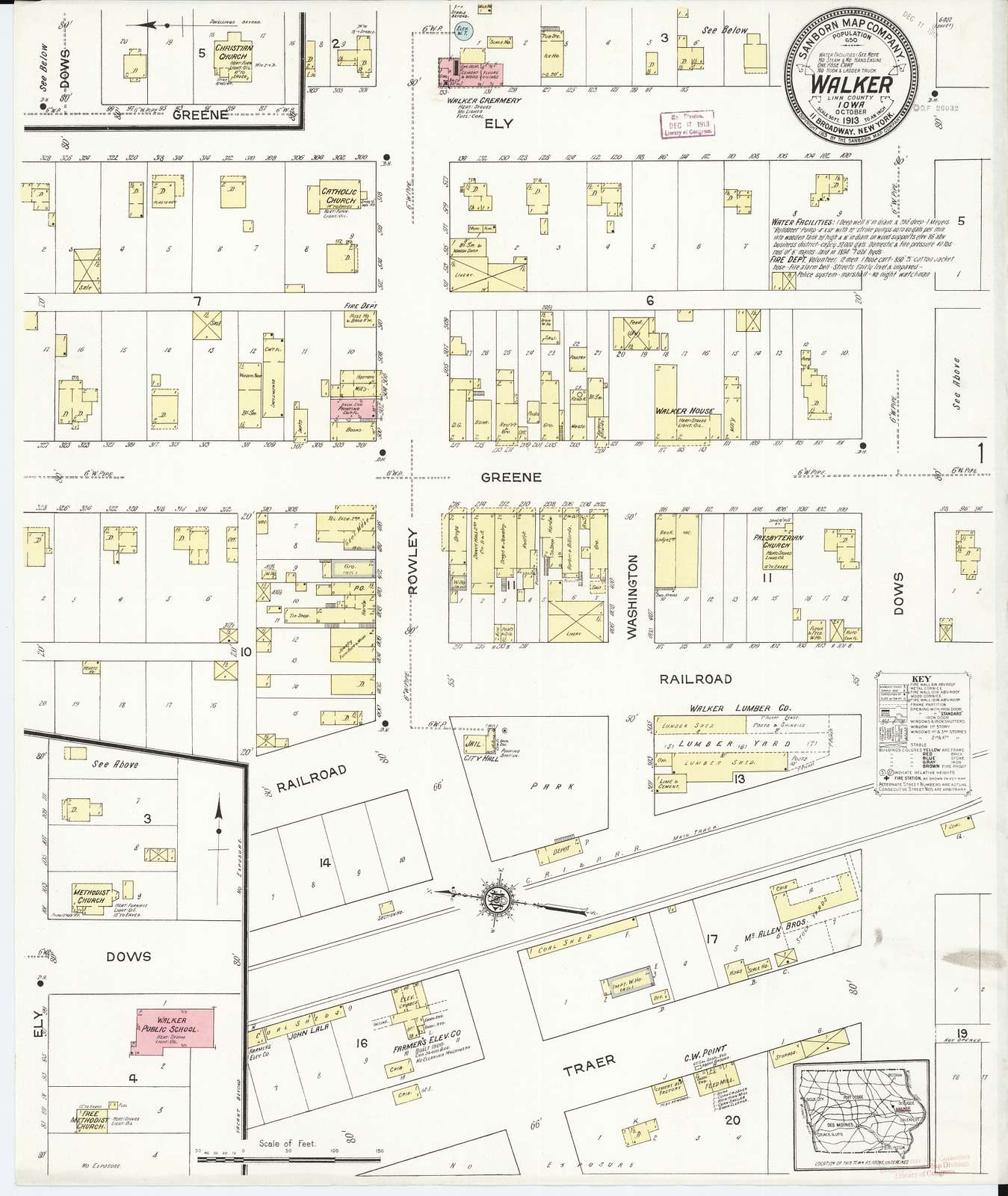 Sanborn Fire Insurance Map from Walker, Linn County, Iowa