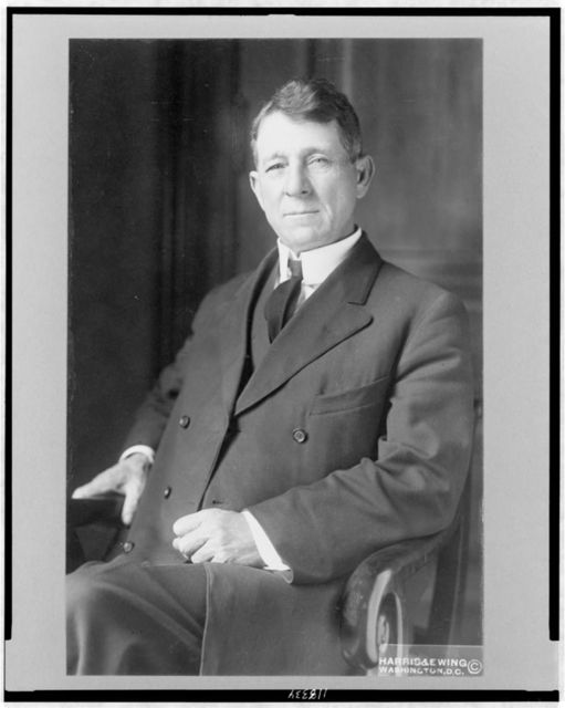 [Sen. Harry Lane, three-quarter length portrait, seated, facing slightly left]