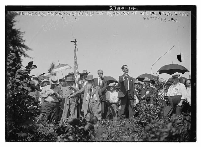 Sen. Moore of Penn. speaking at reunion - Bloody Angle - Gettysburg