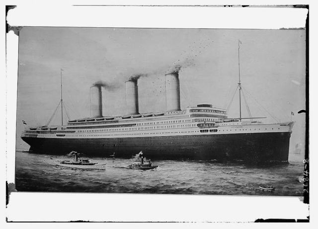 [S.S. Imperator, an ocean liner in the Hamburg America Line, launched 1912]