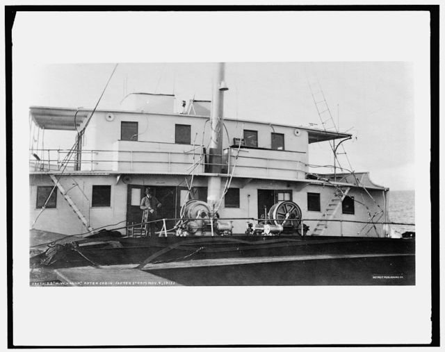 S.S. M.W. [i.e. Howard M.] Hanna, after cabin, after storm