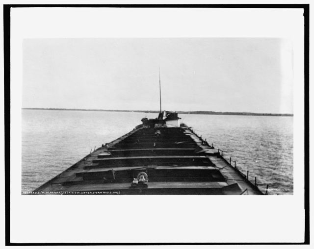 S.S. M.W. [i.e. Howard M.] Hanna, deck view, after storm