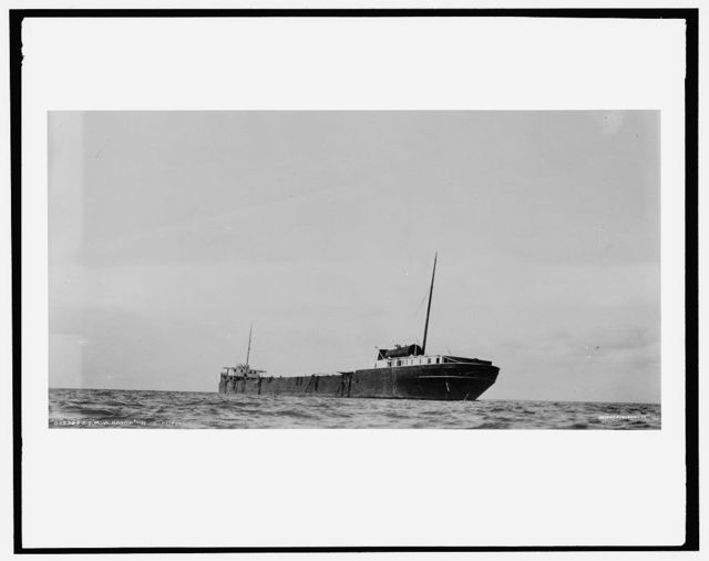 S.S. M.W. [i.e. Howard M.] Hanna on reef near Pt. Austin Light, Lake Huron