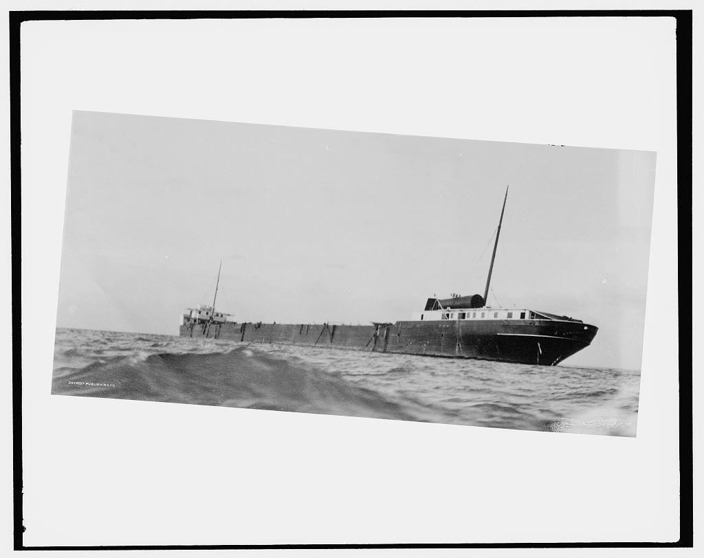 [S.S. M.W. [i.e. Howard M.] Hanna on reef (near Pt. Austin light, Lake Huron)]