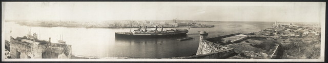 S.S. Victoria Luise entering Havana Harbor