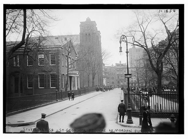Stuyvesant Sq. - St. George's at time of Morgan funeral