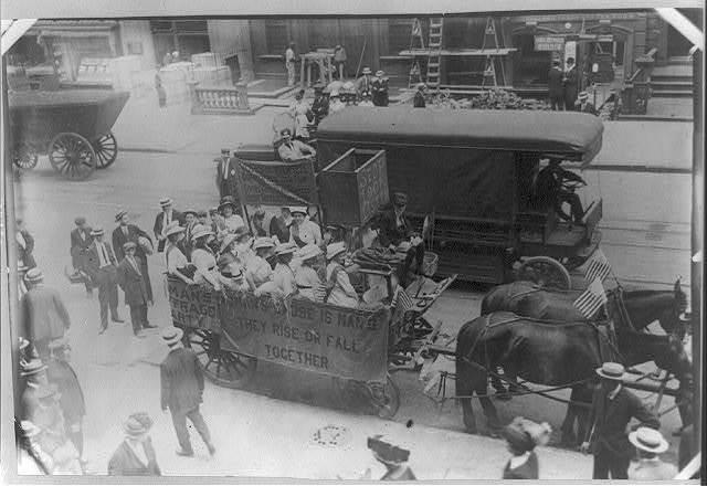 Suffrage hay wagon