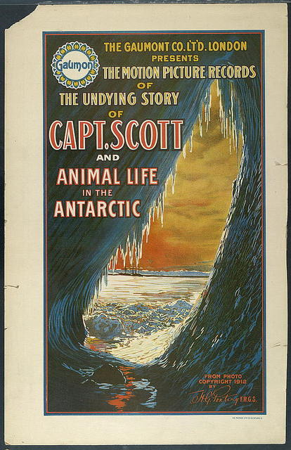 The Gaumont Co. L'T'D. London presents the motion picture records of the undying story of Capt. Scott and animal life in the Antarctic / The Morgan Lith. Co., Cleveland, O.