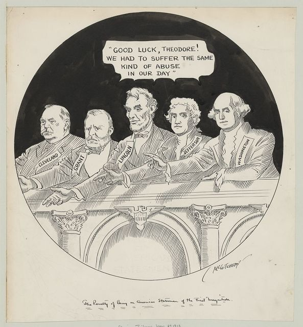 The penalty of being an American statesman of the first magnitude