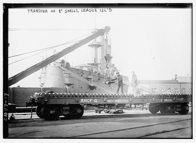 "Transfer of 8"" shells, League Isl'd."