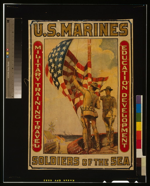 U.S. Marines - Soldiers of the sea Military training, travel, education, development / / Sidney H. Riesenberg 1913.