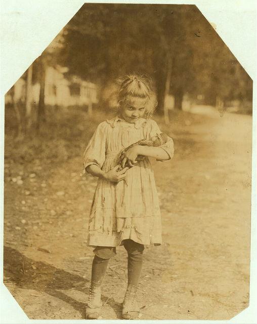 Varn & Platt Canning Co. Rosie & her doll.  Location: Bluffton, South Carolina.