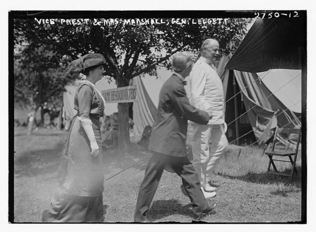 Vice Pres't & Mrs. Marshall, Gen. Leggett [i.e., Liggett]