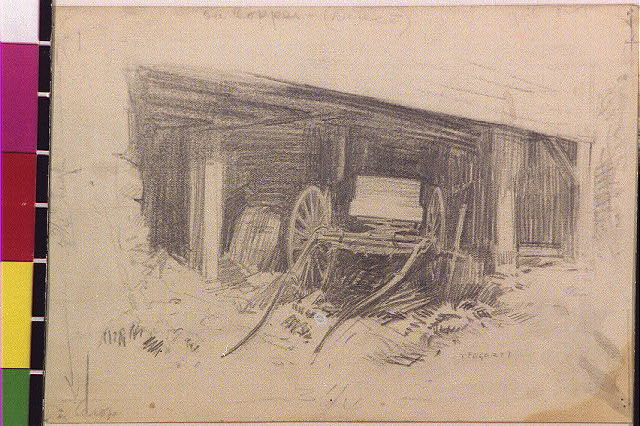 [Wagon in a shed]