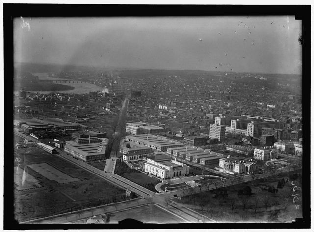 WASHINGTON MONUMENT. VIEW OF PAN AMERICAN UNION AND N.W. FROM MONUMENT