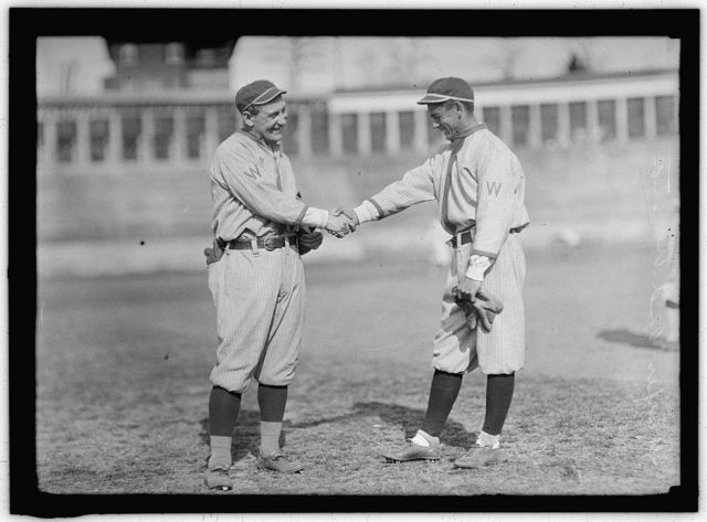 "[William ""Germany"" Schaefer and Merito Acosta, Washington AL, at University of Virginia, Charlottesville (baseball)]"