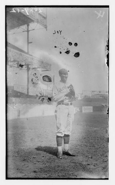 """[William R. """"Hiker"""" Joy, Cleveland AL, at Polo Grounds, NY (baseball)]"""