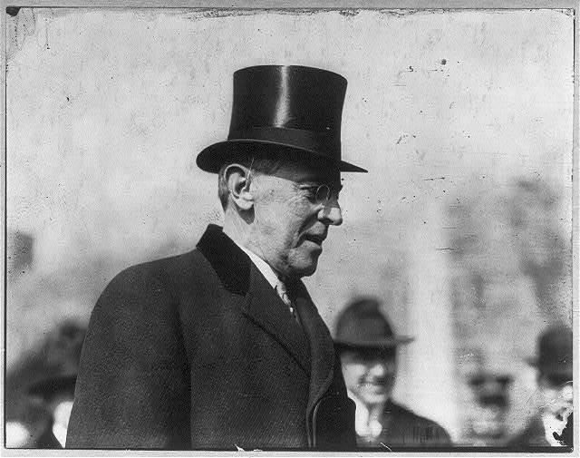 [Woodrow Wilson, bust portrait, facing right]