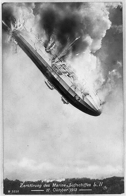 Zerstörung des Marine - Luftschiffes L.II, 17. Oktober 1913