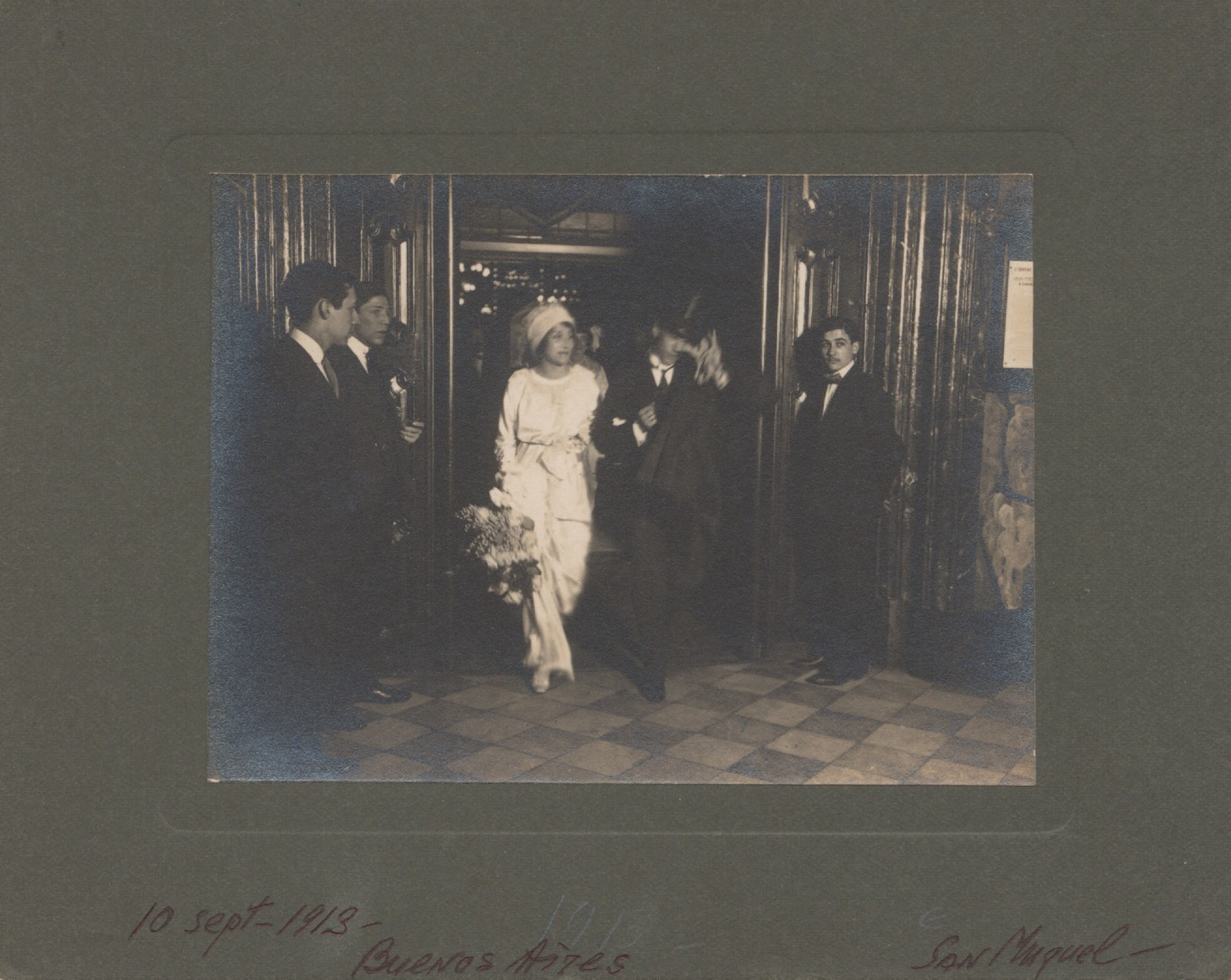 Photograph of Vaslav Nijinsky and Romola de Pulszky on their wedding day, 1913